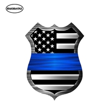 Sticker SHIELD Blue Line Flag Vinyl Decal Matter Hotmeini FS290 12cm-X-9cm Police USA