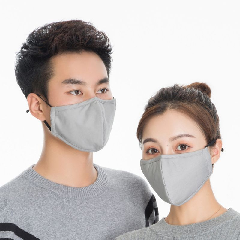 Unisex Cotton Washable Anti-fog Three-Dimensional PM2.5 Mouth Mask With Filter 95AB