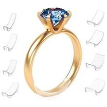 8 tamanhos de silicone anel invisível tamanho do anel regulador de ajuste tamanho almofada primavera pequeno artefato redutor anel sizer caber qualquer anéis