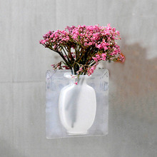 Hanging Flower Pot Silicone Vase Magic Bottle Wall Vases for Decoration Home Offices Decorative