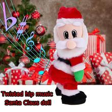 Santa Claus Toy Electric Twerk Singing Dancing hip shake Figure Twisted Hip Toys for children Christmas New Year