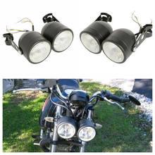 12V Dual-Front Lampe Twin Scheinwerfer W/Halterung Für Street Fighter Nackt Motorräder Dual Sport Fat Boy Softail sport Dirt Bike