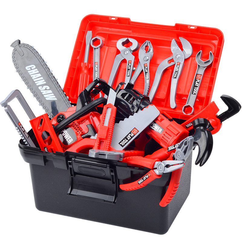 Free Shipping Children's Toolbox Set Baby Simulated Maintenance Tool Electric Drill Screwdriver Repaired  Toys High Quality