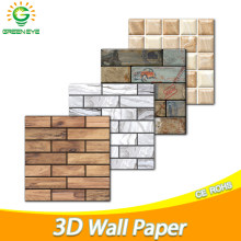 3D Wall paper Marble Brick Peel and Self-Adhesive Wall Stickers Waterproof DIY Kitchen Bathroom Home Wall Stick PVC Tiles Panel