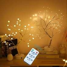 Мини лампа для рождественской елки с дистанционным управлением