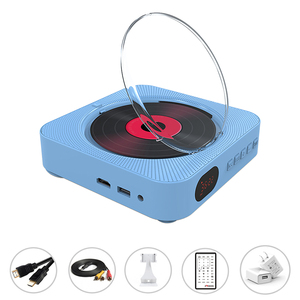 Image 3 - DVD Player Wall Mount Portable Bluetooth Home Audio Boombox Bluetooth CD/DVD all in one Player wireless remote control FM radio