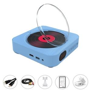 Image 3 - Leitor de dvd suporte de parede portátil bluetooth casa áudio boombox bluetooth cd/dvd tudo em um leitor rádio fm de controle remoto sem fio