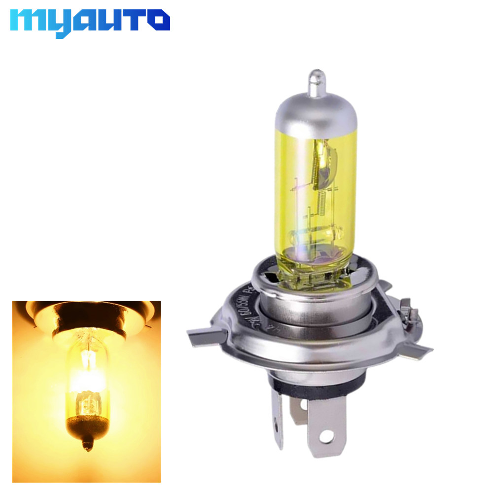 12V <font><b>H4</b></font> <font><b>55W</b></font> 100W Yellow Fog Lights Halogen Bulb High Power Headlight <font><b>Lamp</b></font> Car Light Source parking Head auto <font><b>60</b></font>/<font><b>55W</b></font> 3000K image