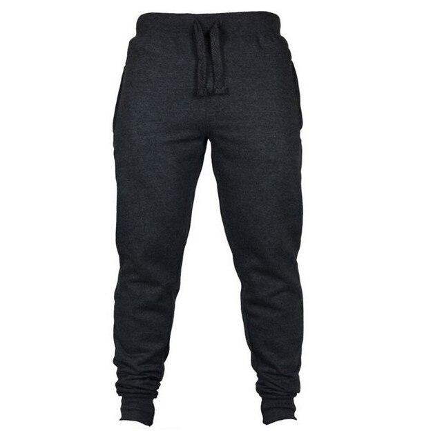 Jogging Casual Hombre Pantalones de aptitud de los hombres ropa deportiva pantalones de chándal ajustados pantalones de chándal Pantalones negro gimnasios Jogger Pantalones 5