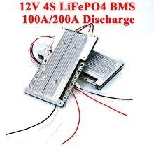BMS 12V 4s, 100a, 200a, 60a, 3.2V, batterie au Lithium LiFePO4, pour système de stockage d'énergie solaire, circuit imprimé avec Balance
