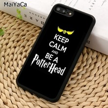 MaiYaCa keep calm and be a potter heard Phone Case For iPhone 5 6S 7 8 plus 11 Pro X XR XS Max Samsung Galaxy S7 S8 S9 S10(China)