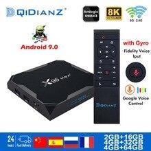 Смарт ТВ приставка X96 Max Plus, телевизионная приставка на Android 9.0, 2,4 ГГц/5 ГГц, Wi Fi, Bluetooth 4.1, S905X3 четыре ядра, 8K поддержка Netflix Player