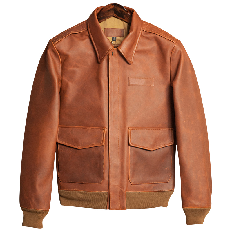 Free Shipping,quality Brand Men 100% Genuine Leather Jackets,classic A2 Vintage Cowhide Jacket,quality.sales Man,sales