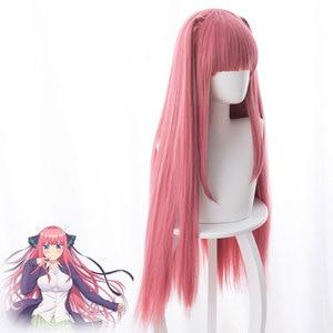 Fogimoya anime cosplay peruca de cinco partes flor casamento/noiva nina nino areia rosa rabo de cavalo cos peruca feminina perucas dropshipping