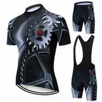 Teleyi Getriebe Radfahren Jersey Set Männer Sommer Mountainbike Kleidung Pro Team Radfahren Kleidung Racing Sport Fahrrad Tragen Kleidung