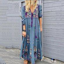 Bohoartist Autumn Womens Floral Bohemia Dress Female Casual Travel Look Boho Dresses
