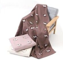 תינוק סוס טרויאני שמיכות בנות בני עגלת חודשי שמיכת יילוד סרוג כותנה ילדי אביב החתלה Cobertor Infantil לעטוף שמיכה