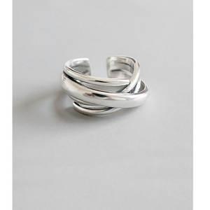 Женское серебряное кольцо, богемное регулируемое геометрическое искусственное кольцо