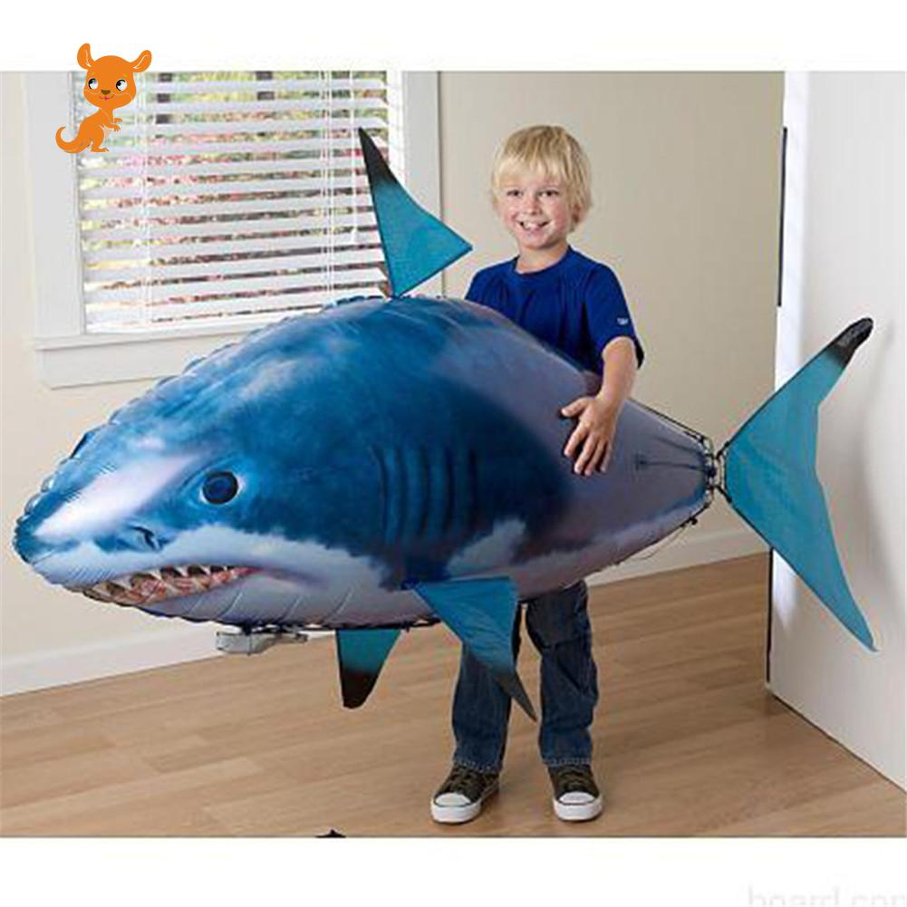 Toys Sports Remote Control Flying Air Balloons Shark Air Swimming Fish Infrared RC Nemo Fly Clown Fish Outdoor Kids Party Robots image