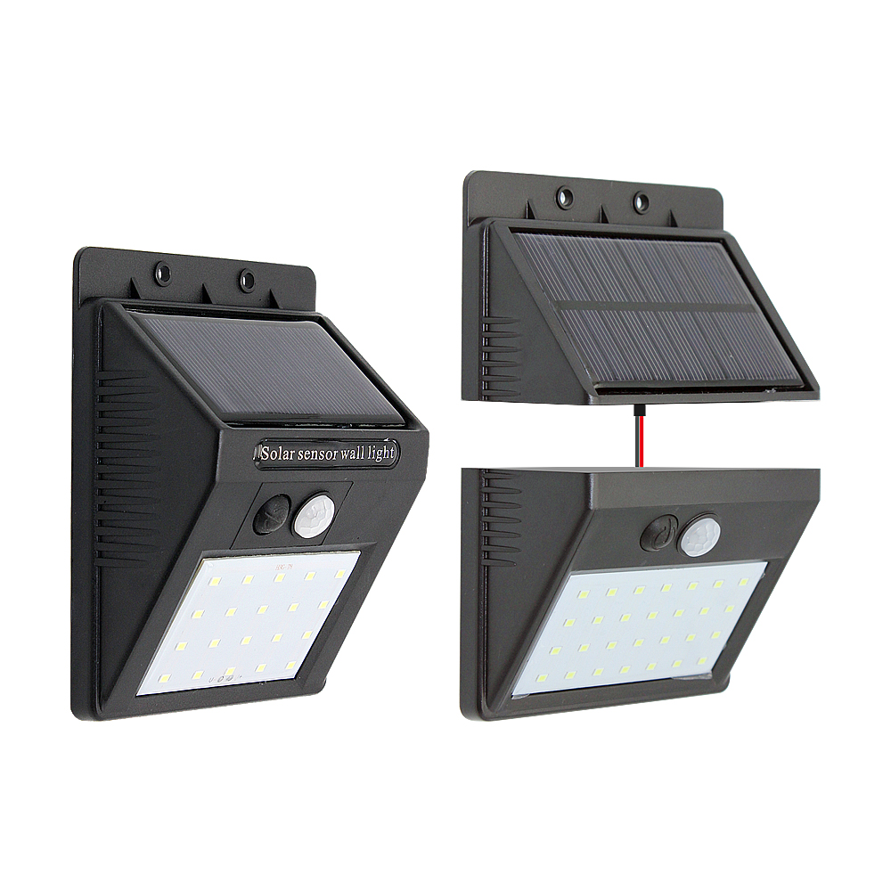 Solar Lights Separated Motion Sensor LED Solar Light Waterproof White 6000-6500K 20 28leds for Outdoor Street Garden Decoration
