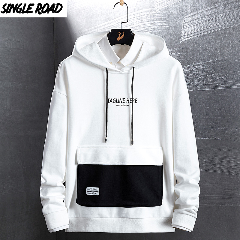 SingleRoad Men's Hoodies New Fashion Japanese Streetwear Hip Hop Casual Sweatshirts Men Women Pullover Harajuku Hoodie For Male