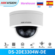 Hikvision PTZ Camera DS-2DE3304W-DE 3MP IP Network Mini Dome Camera 4X Optical Zoom 2-way Audio Support Ezviz Remote View IP67