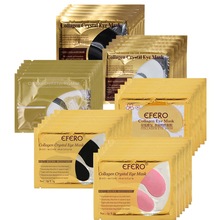 EFERO 5Packs Gold Crystal Collagen Eye Mask Patches Dark Circles Anti-Aging Eyes Masks Moisturizing Whitening Face Care