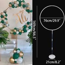 Novo círculo redondo balões suporte balão aro arco weddng pano de fundo ballon quadro chuveiro do bebê crianças festa aniversário decoração