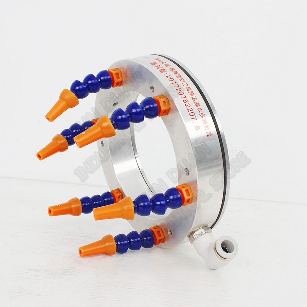 110mm Spindle Water Oil Cooling Liquid Coolant Pipe Hose Tube Nozzles Spray Ring For CNC Router Metal Stone Processing