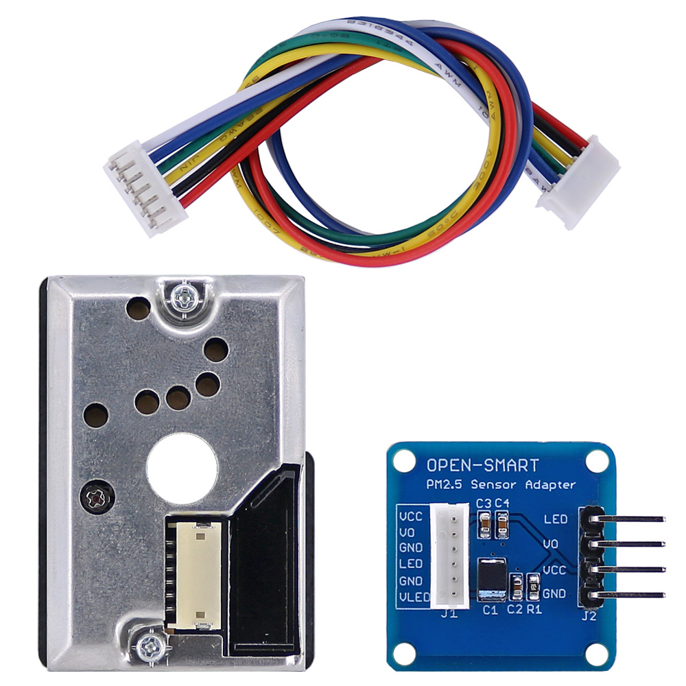 OPEN-SMART PM2.5 Optical Dust Smoke Sensor Module With Adapter Module For Arduino