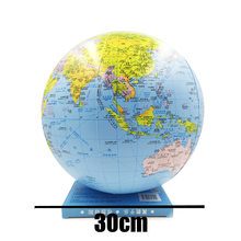30cm Inflatable Globe World Earth Ocean Map Ball Educational Supplies Geography Learning Beach Kids