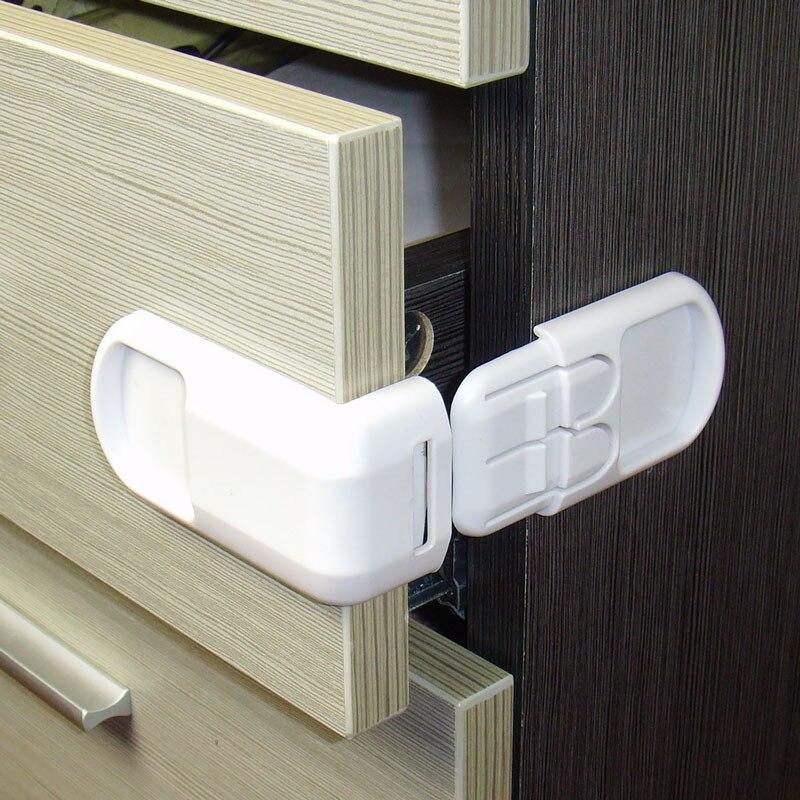 5PCS/Lock Kid Safety Card Cabinet Lock Baby Cupboard Safety Locks Child Kids Safety Care Security Lock