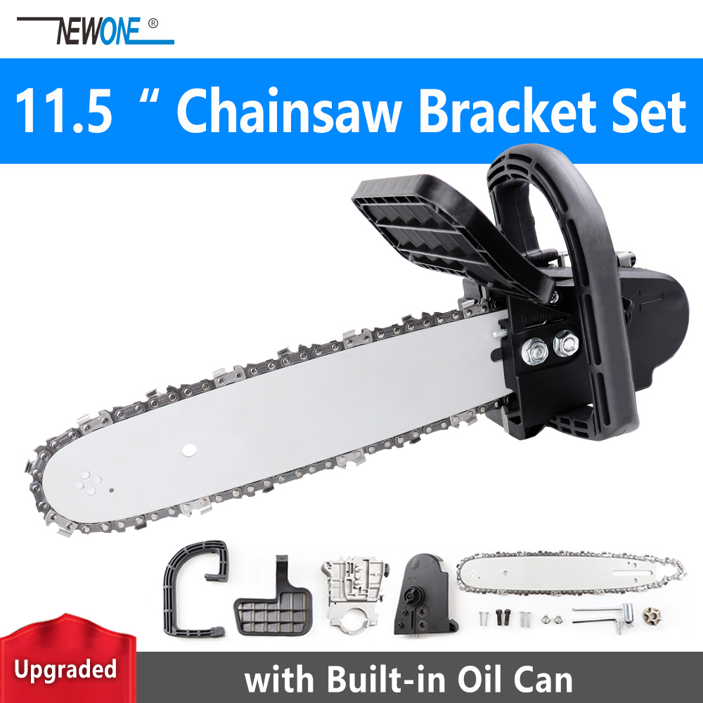 NEWONE Upgraded 11.5 Chainsaw Bracket Set 100/115/125mm Angle Grinder M10/M14 to Chainsaw Converter Wood Saw image