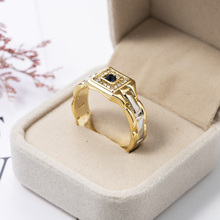 Watch Shaped Rings for Men Creative Enganement Wedding Band Ring Gold Men Party Rings