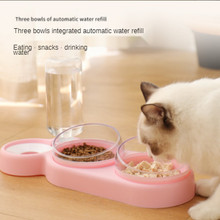 Feeder NEW Pet Dogs Cats Double Bowls Food Water Feeder Container Dispenser For Dogs Cats Drinking High Quality Pet Products