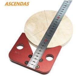 ASCENDAS centrum obróbki drewna Scriber 45 stopni kąt linii kaliber linijka drewna pomiaru Scribe narzędzie TP-0203