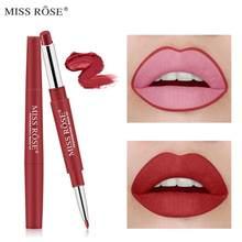 MISS ROSE 2 en 1 Double extrémité lèvre Liner rouge à lèvres étanche longue durée Pigments couleur maquillage beauté cosmétique TSLM1