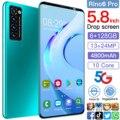 Rino6 pro 5.8 Inch 6+128GB 10 Core 4800mAh Andriod 10 Mobile Phone Face ID Smartphones Cellphones Dual SIM 13+24MP Andriod Phone