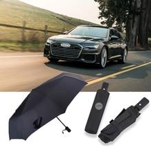 Fashion Car Styling Logo Umbrella Black Custom Automatic Business Umbrella For AUDl A3 V8 A4 A5 A6 A7 A8 Q2 Q3 Q5 Q7 Q8 R8 RS3