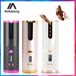 LCD Automatic Hair Curler Rotating Curling Iron Ceramic Professional Heating Hair Stick Portable Air Spin Curl For All Hair Type