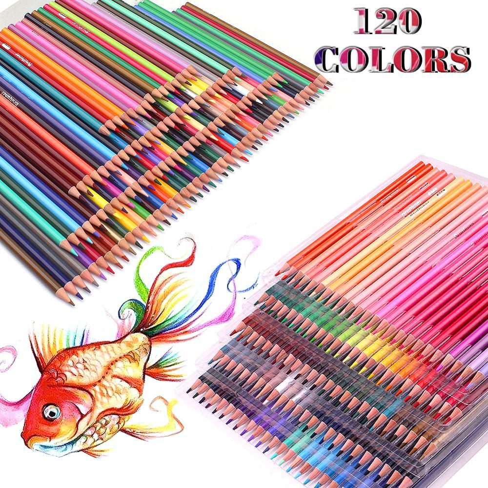 120 öl Farbe Bleistifte Set Künstler Malerei Skizzieren Holz Farbe Bleistift Schule Kunst Liefert