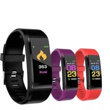 115 Plus Smart Wristband Watch Fitness Tracker Heart Rate Monitor Band Bracelet Waterproof Smartwatch