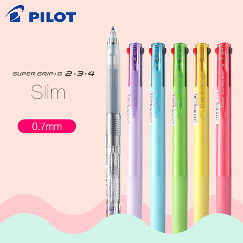 Japan PILOT BKSG-25 Multi-function Ball-point Pen Medium Oil Pen Multi-color Smooth Large Capacity Office Students 0.7mm