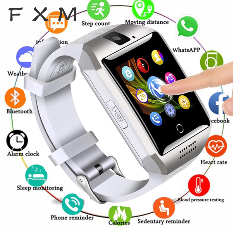 Digital Watch Bluetooth Smart Watch Touch Screen with Camera Watch Mobile Phone with Sim Card Slot for Android IOS Phone PK DZ09|Digital Watches| |  -