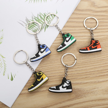 Mini Shoes Keychain Bags Charm Women Men Kids Gifts Key Ring Holder Rubber Key Chain