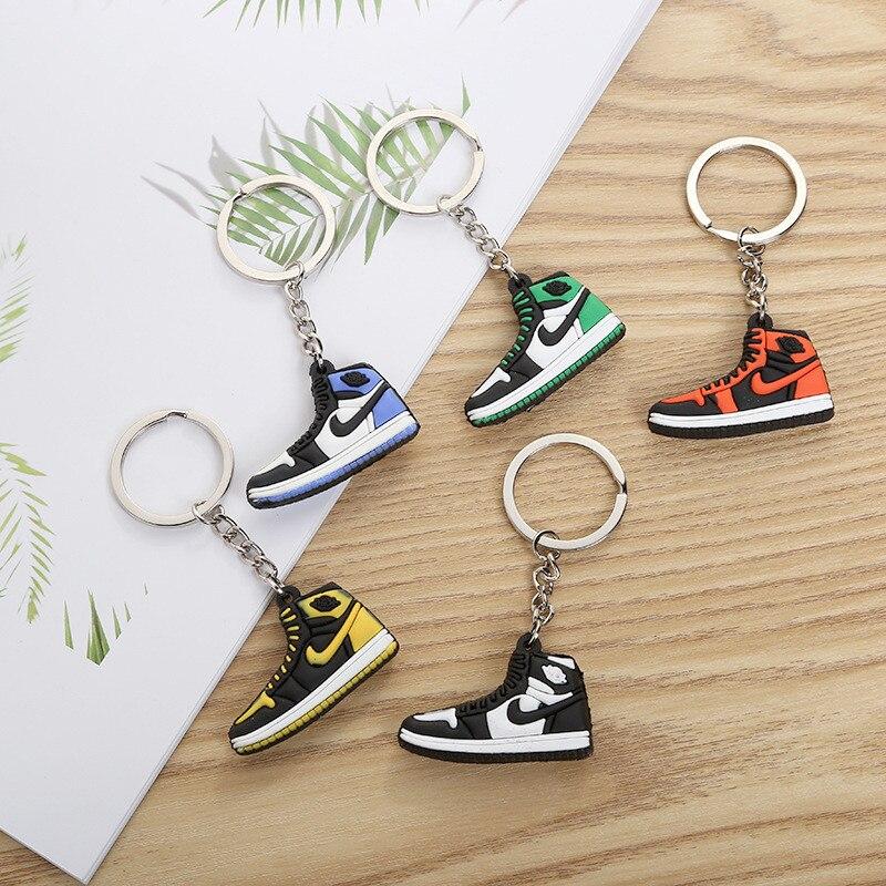 Mini chaussures porte clés sacs charme femmes hommes enfants cadeaux clé porte anneau porte clés en caoutchouc-in Porte-clés from Bijoux et Accessoires    1