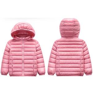 Image 3 - Baby Girls Boys Parka Light Kids Jacket Hood 90% Duck Down Coat Winter Children Jacket Spring Fall Toddler Outerwear 1 12 Year