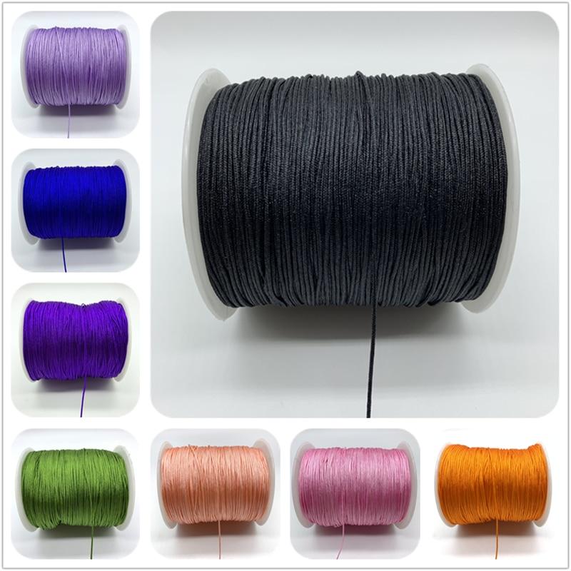 10 ярдов/лот 1 мм нейлоновый шнур веревка китайский узел макраме шнур веревка для самостоятельного изготовления ювелирных изделий браслет ш...