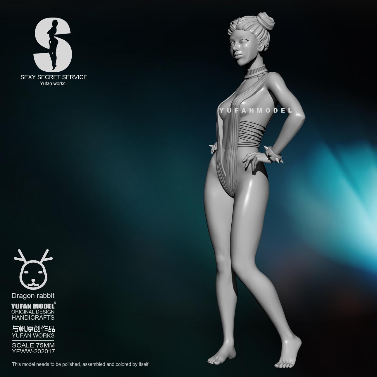 1/24 Resin Figure Kits Beauty Agent Self-assembled YFWW-2061