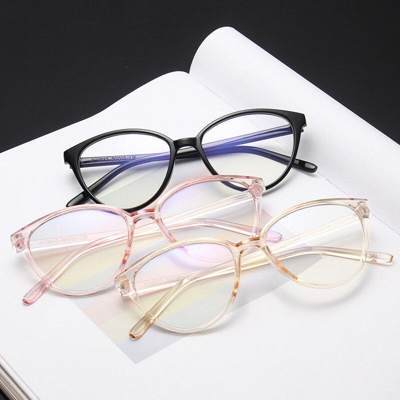 Iboode Anti Blue Light Round Cat Eye Eyeglasse Frame Women Computer Gaming Eye Protection Eyewear Optical Spectacle Unisex 2019